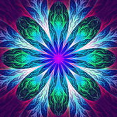 Beautiful fractal flower in pink and blue. Computer generated gr — Stock Photo