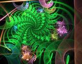 Das muster des rasters und der spiralen. computer generat — Stockfoto
