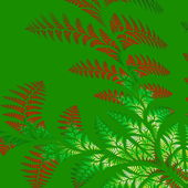 Asymmetrical pattern of the leaves in red and green. — Stock Photo