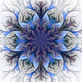 Beautiful fractal flower in blue and gray. — Stock Photo