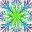 Beautiful multicolor fractal flower. Collection - frosty pattern — Foto Stock