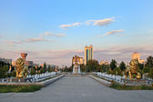 The fountain complex in the park. Ashkhabad. Turkmenistan. — Stock Photo