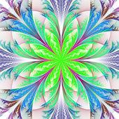 Fiore bellissimo frattale multicolor. raccolta - modello frosty — Foto Stock