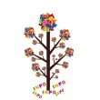 Abstract tree with colorful letters and words info isolated on w — Stock Photo #44441393