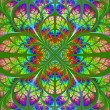 Multicolor fabulous fractal pattern. Collection - tree foliage. — Stock Photo #44753273