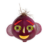Healthy eatin. Funny face made from onions — Foto Stock