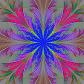 Fleur de belle fractale multicolore. collection - motif givré — Photo