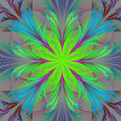 Beautiful multicolor fractal flower. Collection - frosty pattern. Computer generated graphics. — Stock Photo