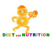 Healthy eating. Funny running little man made of the orange sli — Stock Photo