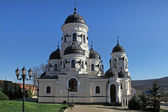Orthodox church from Capriana Monastery, Moldova — Foto de Stock