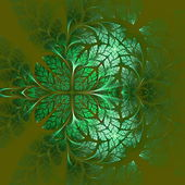 Fabulous fractal pattern in green. Collectiont - tree foliage. C — Stock Photo
