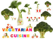 Fabulous vegetarian cuisine country, made of fruits and vegetabl — Stock Photo