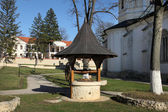 Draw-well in the monastery complex Capriana — Photo