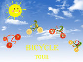 Healthy living, bicycle tour — Stock Photo