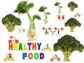 Fabulous healthy food country, made of fruits and vegetables — Stock Photo