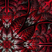 Diagonal symmetric pattern of the leaves in red. Collection - tr — Stock Photo