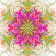 Beautiful fractal flower in pink and green. Computer generated g — Stock Photo #47246449