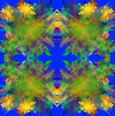 Colorful symmetrical fractal background. Computer generated — Stock Photo