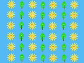 Retro sun kids pattern wallpaper background  — Stockfoto