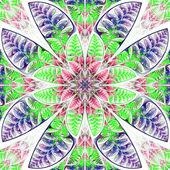 Multicolor symmetric pattern of the leaves. Collection - tree fo — Stock Photo