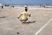 Petanque competitions. France. Marseille. Mediterranean coast. August 20. 2012 — Stock Photo
