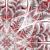 Diagonal symmetric pattern of the leaves in red. — Stock Photo