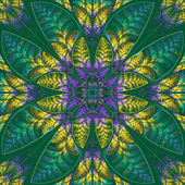 Multicolor symmetric pattern of the leaves. — Stock Photo