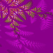 Asymmetrical pattern of the leaves in purple and green.  Compute — Stock Photo