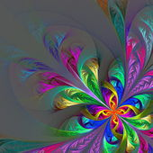 Diagonal symmetric multicolor fractal tracery. Collection - fros — Stock Photo