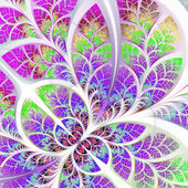 Fabulous fractal pattern in purple and pink. Collection - tree f — Stock Photo