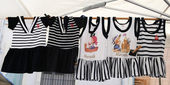 MARSEILLE, FRANCE - CIRCA JULY 2014 : Girls dresses at the stree — Stock Photo