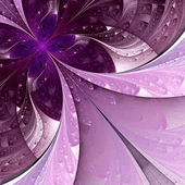 Beautiful fractal flower in vinous and purple. Computer generate — Stock Photo