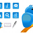 New mediand social network icons — Vecteur #32409777