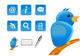 新しいメディアとソーシャル ネットワークのアイコン — ストックベクタ