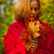 Fall woman — Stock Photo