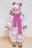 Baby in winter clothes — Stock Photo