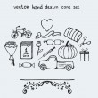 Stock Vector: Hand drawn icons