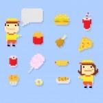 ������, ������: Pixel fastfood