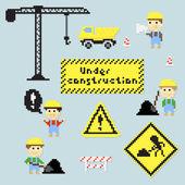 Pixel construction — Stock Vector