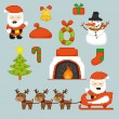 Stock Vector: Pixel art Christmas