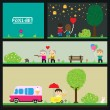 Royalty-Free Stock Vector Image: PixelArt park