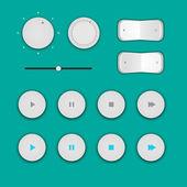 Кнопки игрока — Cтоковый вектор