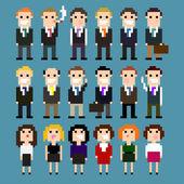 Pixel Suits — Stock Vector