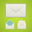 Three envelope icons — Stock Vector