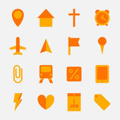 Flat Icons — Stock Vector