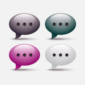 Set of glossy speech bubble icons — Stock Vector