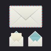 Three envelope icons — Stock Vector