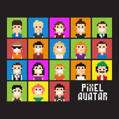 Pixel Avatar — Stock Vector
