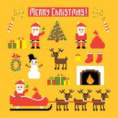 Pixel Christmas — Stock Vector