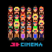 Pixel Art Cinema — Stock Vector